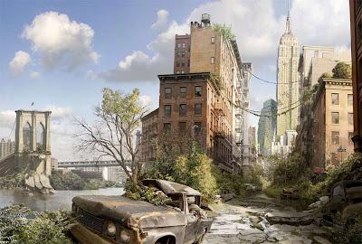 Illustration de new york en ruine