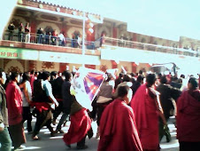 Picture of protest inside Tibet