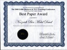 Best Paper Award, Germany 2008