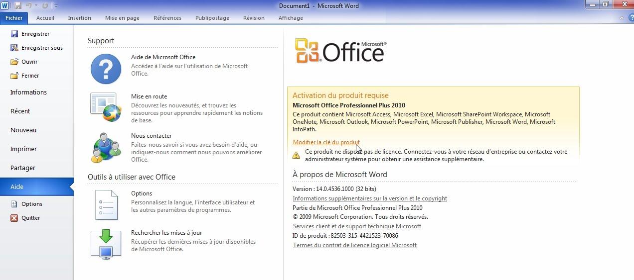 Cle de produit pour microsoft office 2010 gratuit - Office 365 famille premium cle gratuit ...