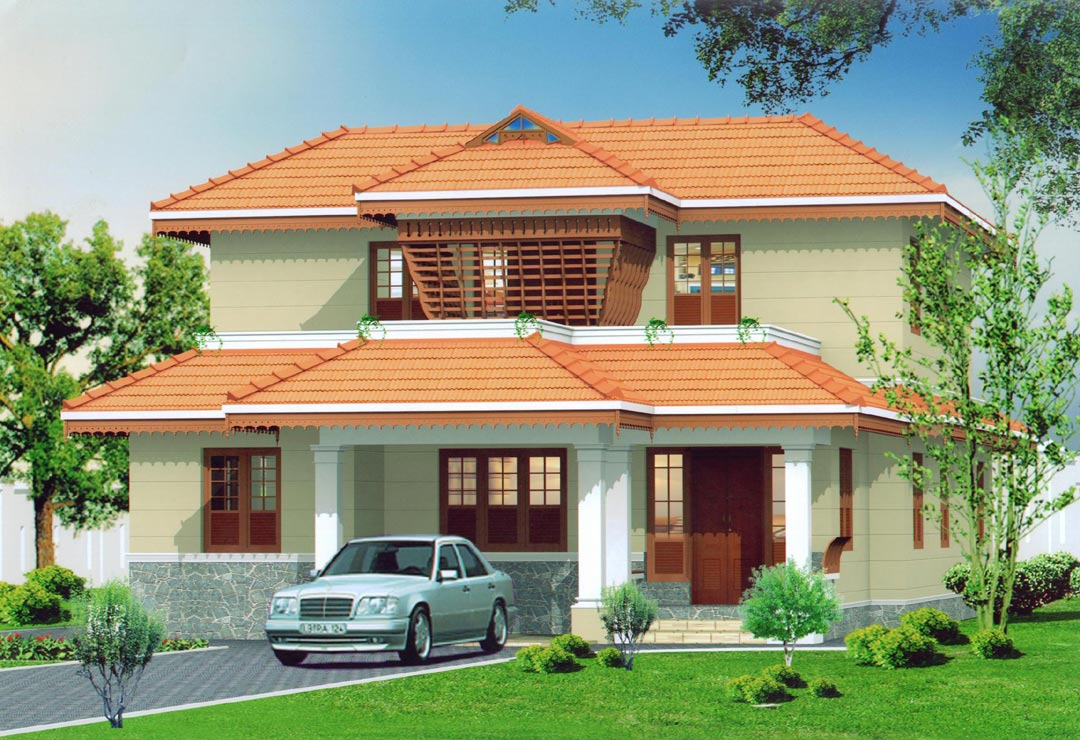 Kerala this house won the 2010 parpidam best home award for House plans for kerala climate