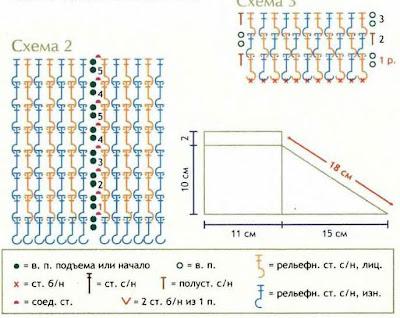 Схема вязаных тапочек