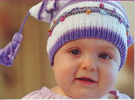 Вязаные детские шапки 33