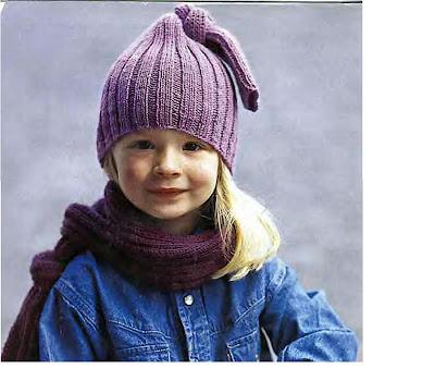 фиолетовая шапочка для девочки