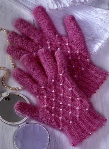 Вязание спицами палец у перчаток 63
