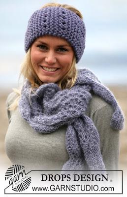 шарф и повязка на голову