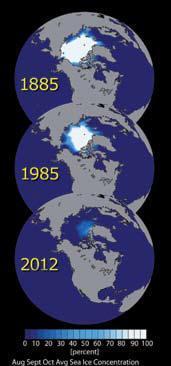 Laut es kutub utara sejak dua puluh tahun yang lalu, tahun 1988