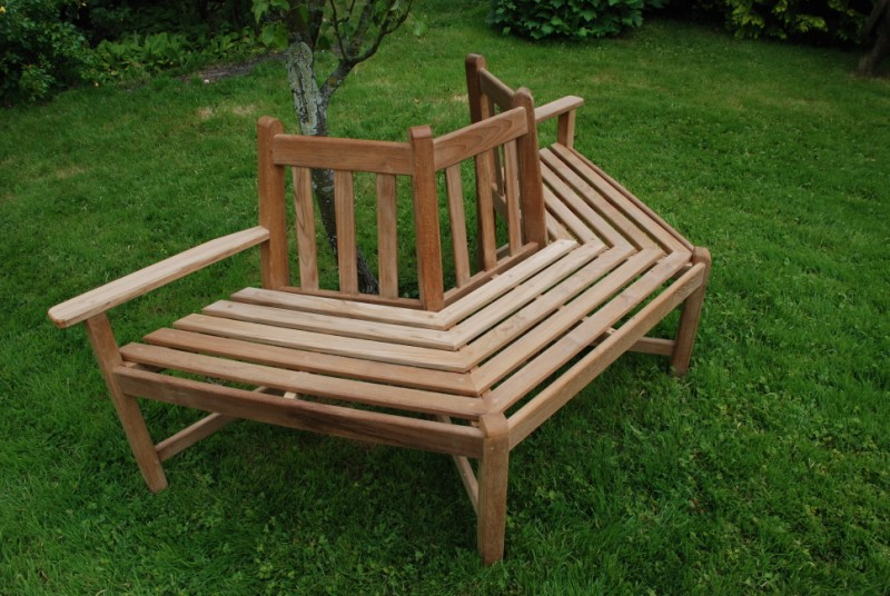 teak tree benches. Black Bedroom Furniture Sets. Home Design Ideas