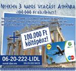 Athéni utazás nyeremény
