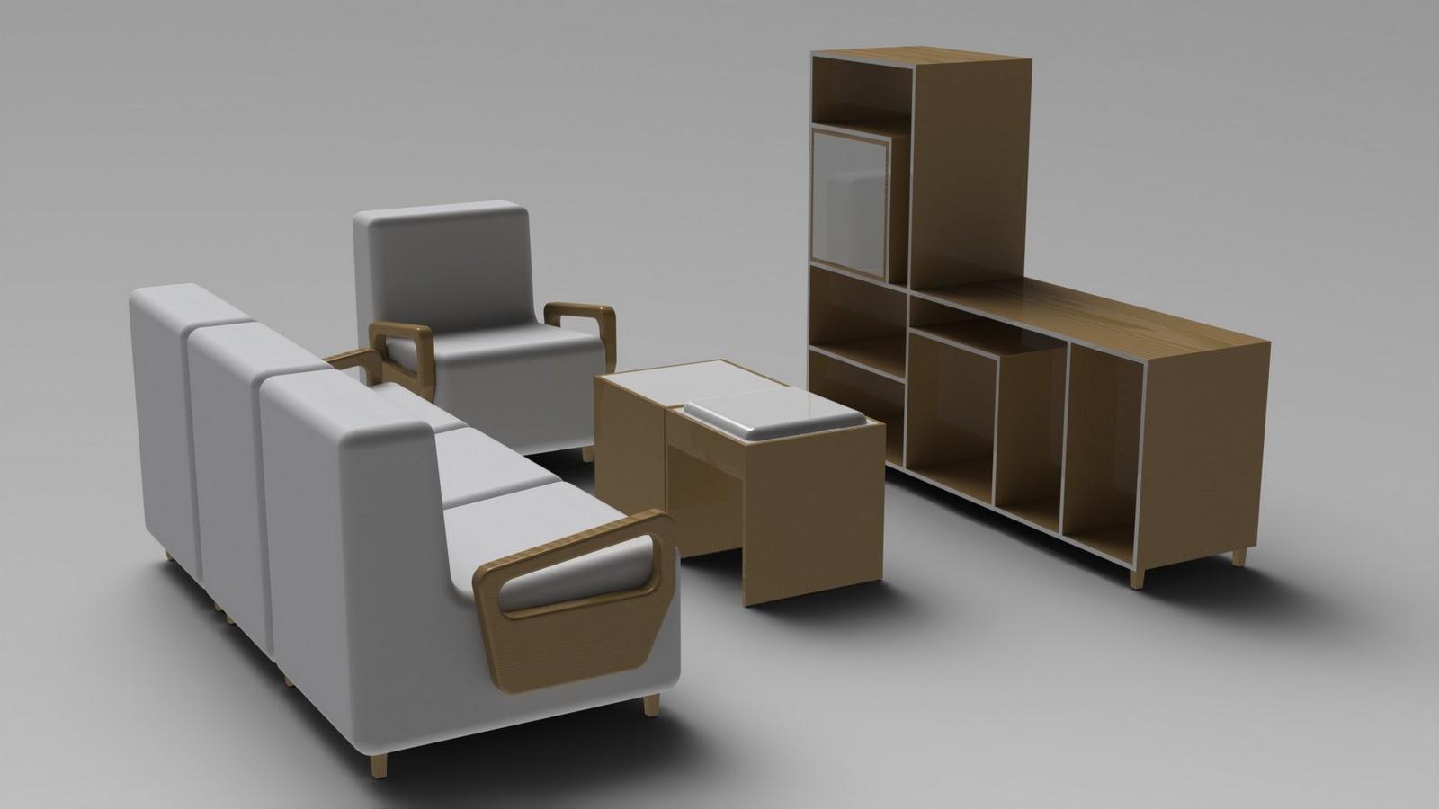 Kit Sala De Estar Completa ~ Sala de Estar  Graziato Product Design