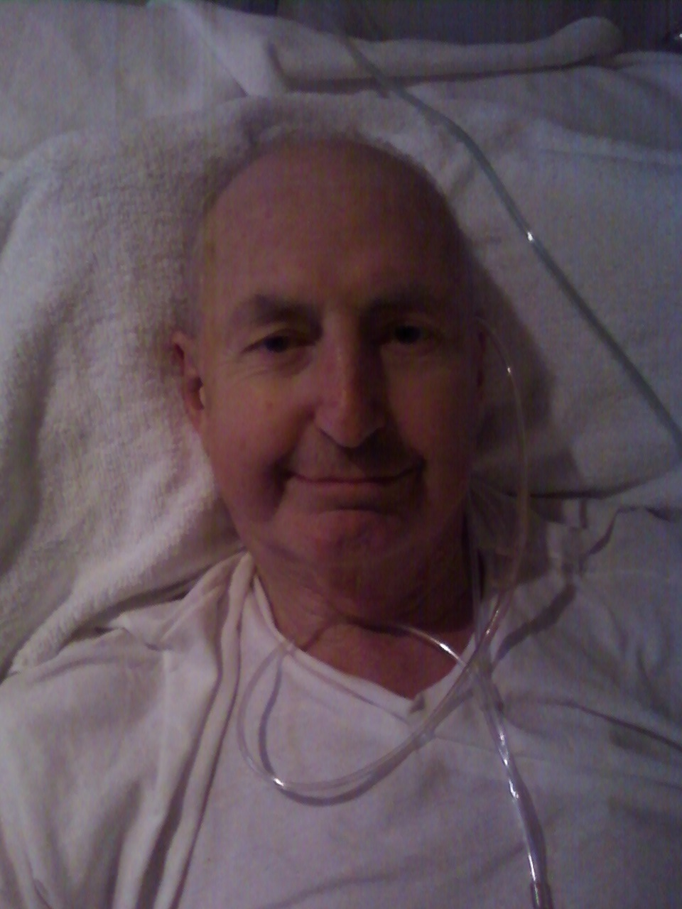 geoffrey mclennan  bec here it is now 1 30am dad is comfortable and very sleepy mum and i are here in the room him for the night he felt that we needed to be