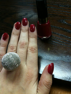 Hi sorry im late posting this but this is my nail of the day that i wore on Christmas Day this Year....Cherries in the Snow by Revlon. I applied this polish ...