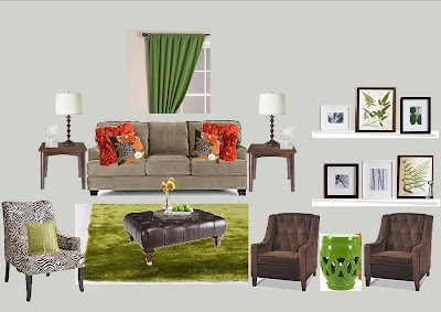 Daly Designs: Melissa's Living Room