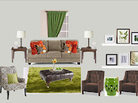Add Color To All Brown Living Room Furniture