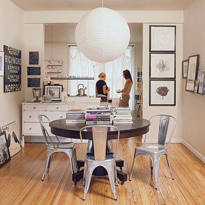 Loving These Contemporary Metal Chairs W This Round Table