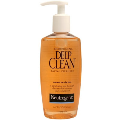The heat gives me really oily skin so i use Neutrogena Deep clean for normal