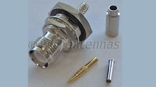 RP TNC Female Crimp Connector Coaxial RG58 RG59 CLF200