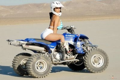 Denise Milani in Extreme Bike Adventure ATV Motorcycle Model Photo Shoot Session