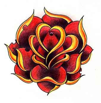 Old School Tattoo Art Roses