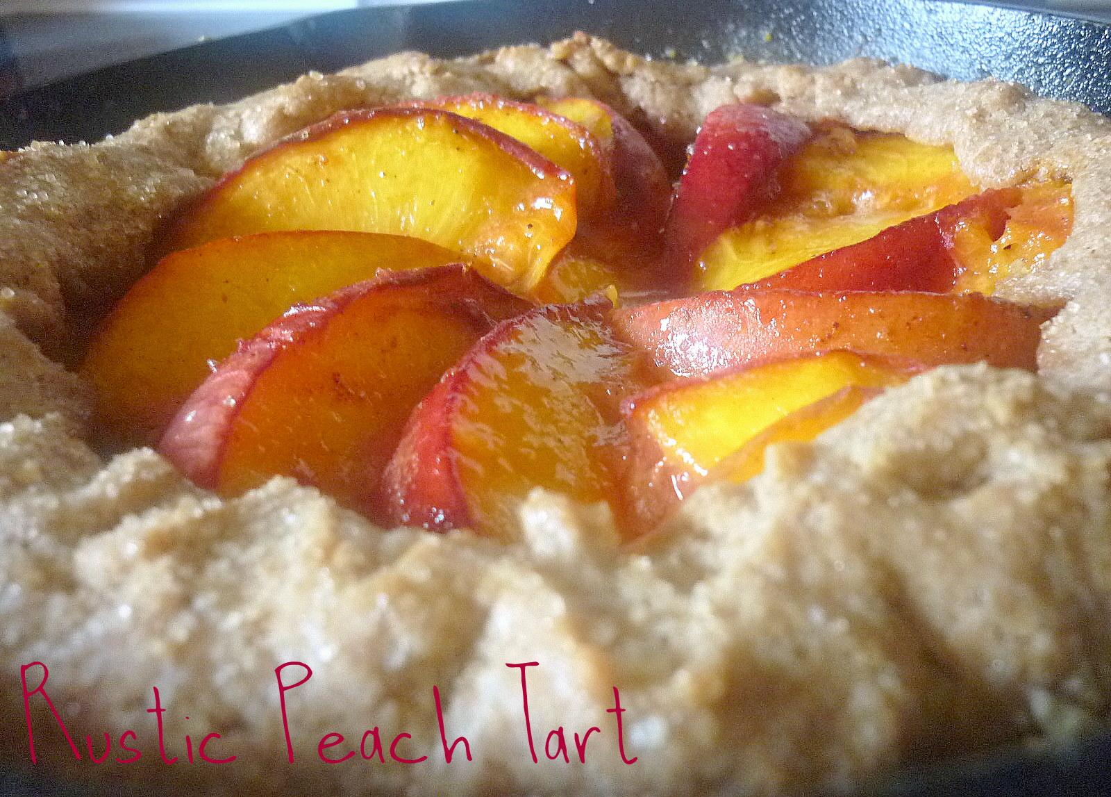 Rustic Peach Tart - Sprinkled with Flour