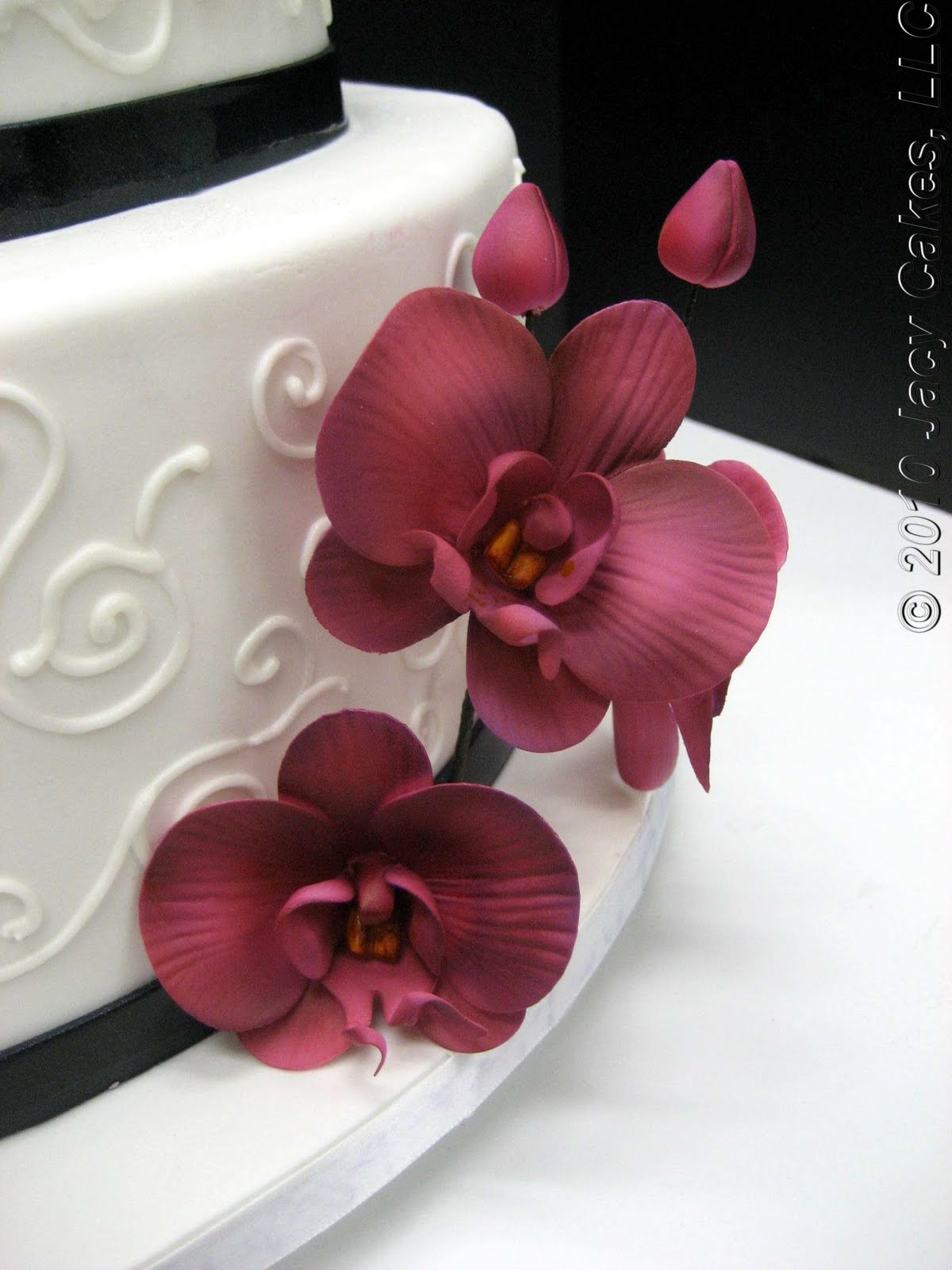 news from jacy cakes orchids swirls wedding cake
