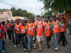 Los Barrancones Alante en el desfile