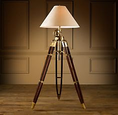 Design trade magazine triple threat for Royal marine tripod floor lamp antique brass