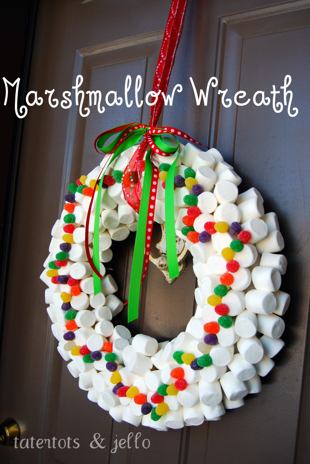 Whimsical Christmas Wreath Tatertots And Jello
