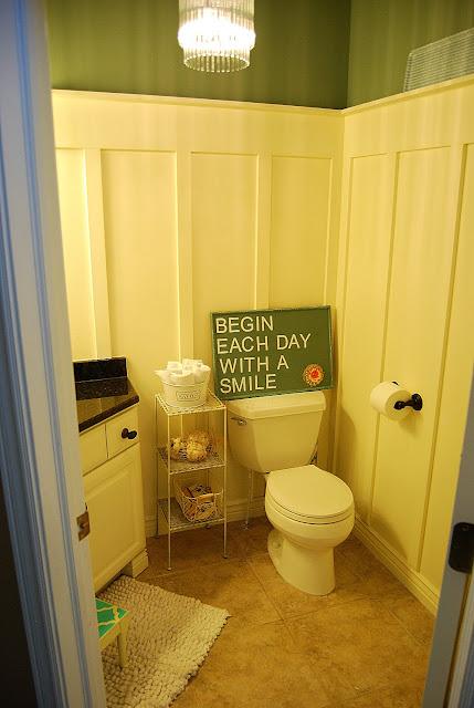 diy board batten bathroom redo. Black Bedroom Furniture Sets. Home Design Ideas