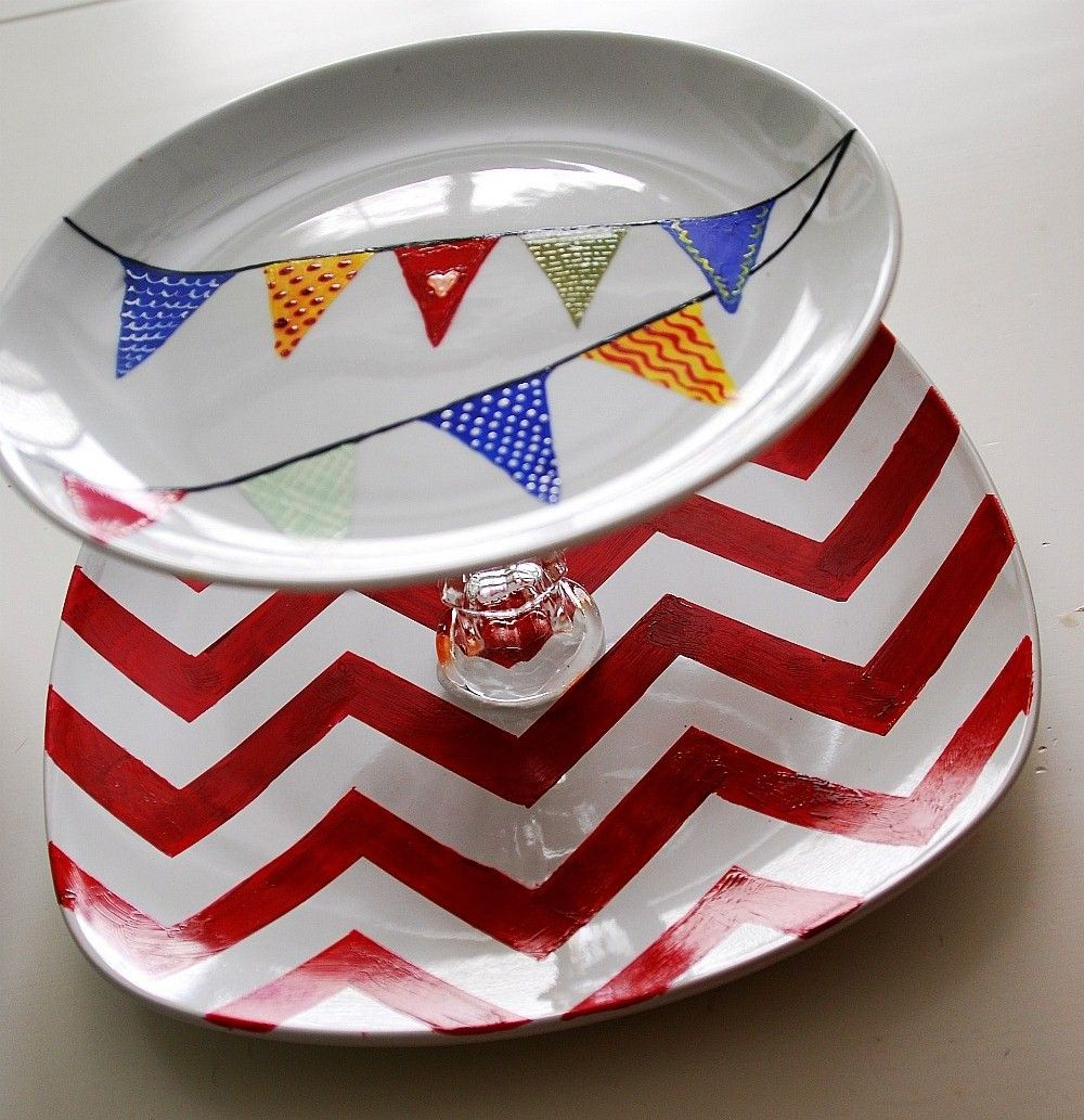 5 challenge u2014 3 different dollar store tiered tray ideas and a chevron stencil printable