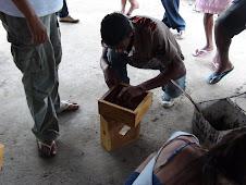impermeabilização das caixas das abelhas