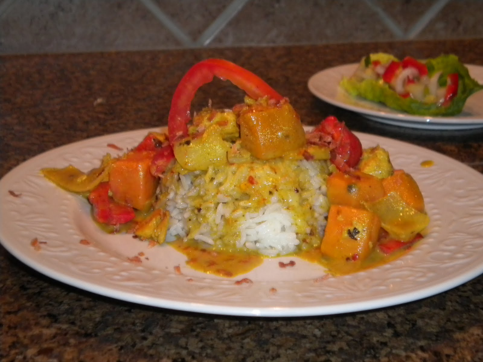 Unconventional gourmet toasted coconut chicken curry with for Amazing thai cuisine north hollywood