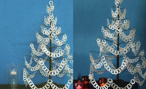 Como hacer Árbol de navidad con cadenas de papel - Manualidades