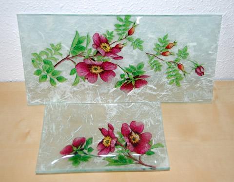 Bandejas decoradas con servilletas portal de manualidades - Servilletas de papel decoradas para manualidades ...