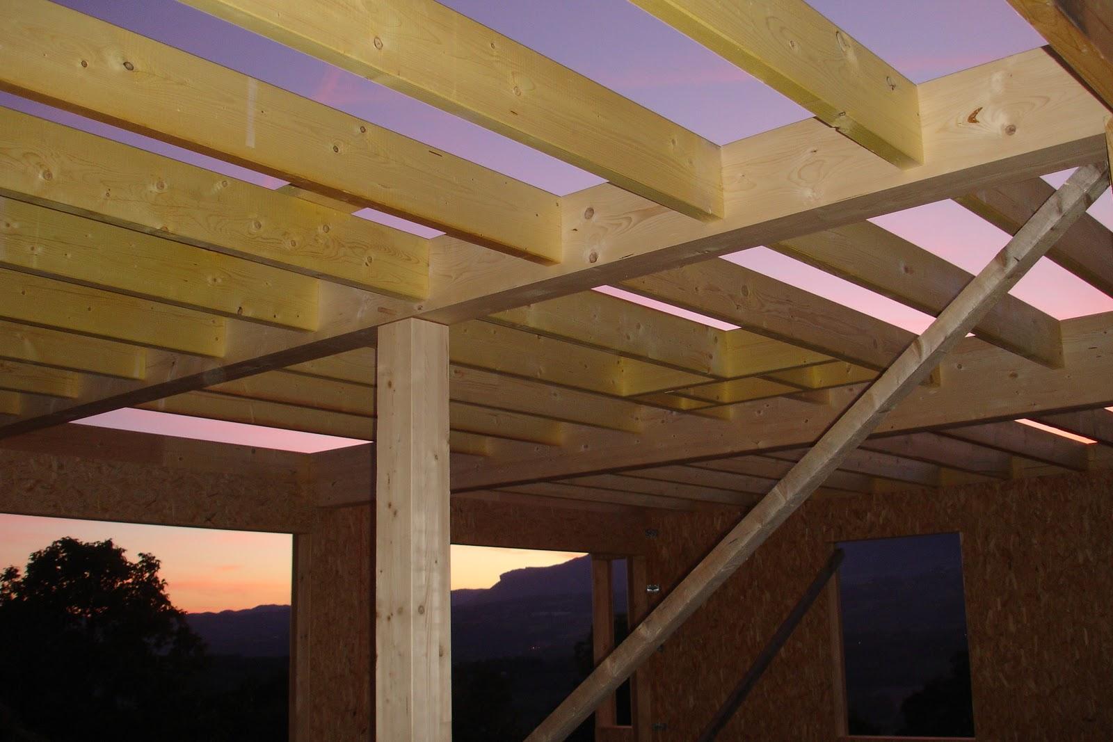 Solivage  Notre maison bois bioclimatique passive
