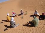 cercle de parole dans le désert