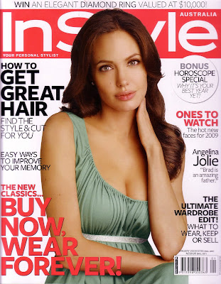 Angelina Jolie Instyle Scans - January 2009