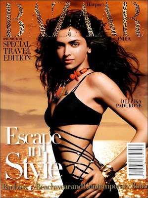 Deepika Padukone on Harper Bazaar Cover Scans