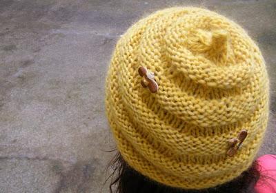 Beehive Knitting Patterns : Unfurled: Beehive Hat!