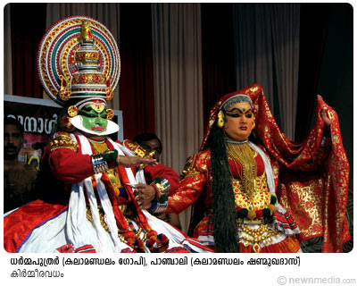 KirmeeraVadham: Kalamandalam Gopi(Dharmaputhrar), Kalamandalam Shanmukhadas(Panchali)