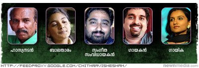 Kerala State Film Awards 2008 - Mamukkoya (Best Comedian), Niveditha Thomas (Best Child Actor), M. Jayachandran (Best Music Director), Sankar Mahadevan (Best Male Singer) and Manjari (Best Female Singer).