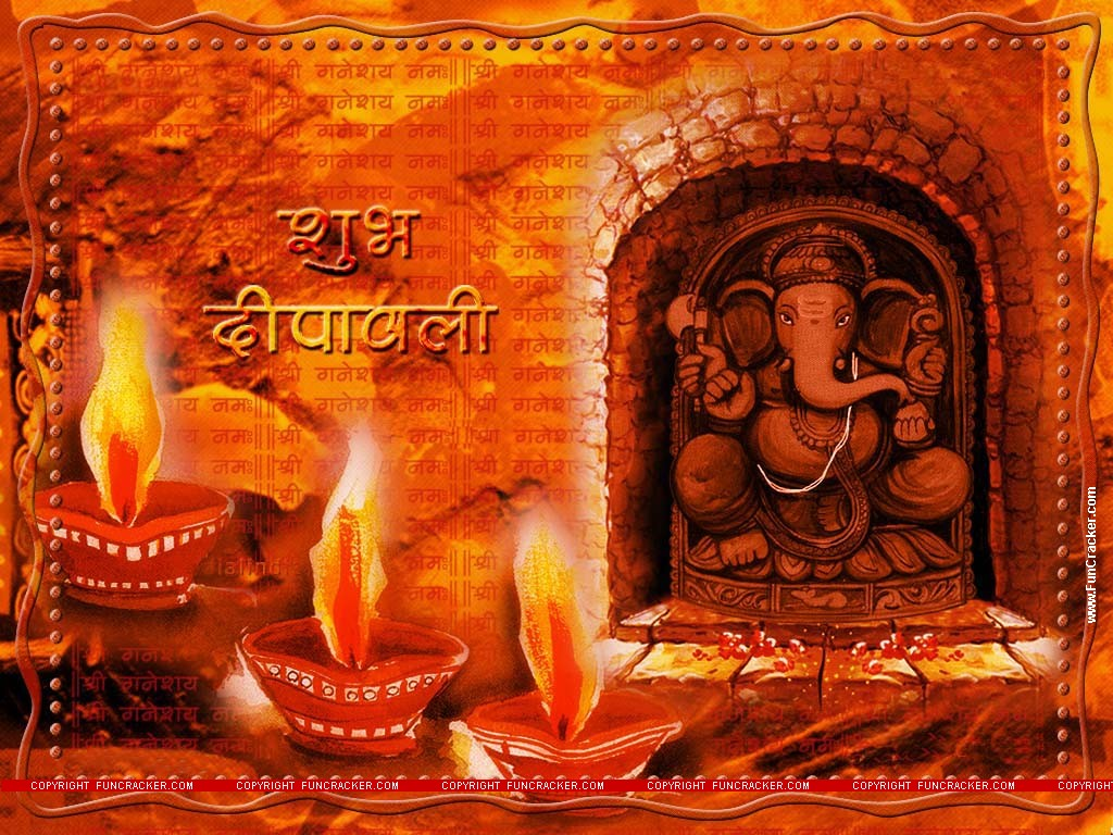 Hindu God Ganpati Diwali Wallpaper Deepawali Images Diya Burning Lightings Photo