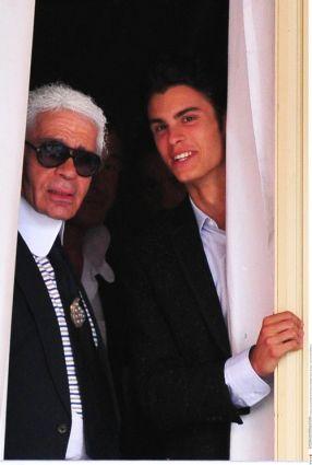 karl lagerfeld boyfriend. Karl Lagerfeld and Baptiste