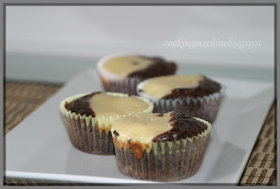 Asian Cooking and More...: Black & White Brownie Cupcakes