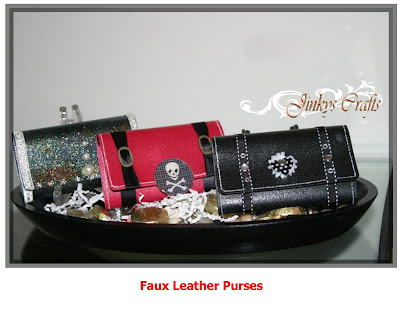I just LOVE these Faux Leather Purses and my cute Faux Alligator Skin