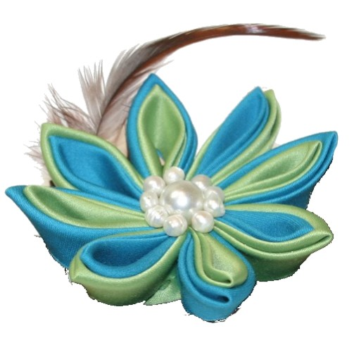 Kanzashi In English Speaking World The Term Is Sometimes Applied To Folded Fabric Petal Flower That Traditionally Adorned Tsumami