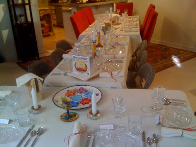 Passover Table is set