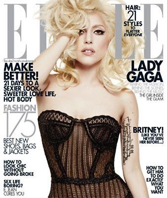 Lady Gaga na Elle de janeiro