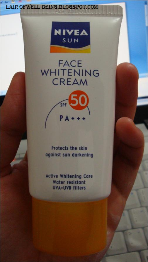 nivea whitening face cream