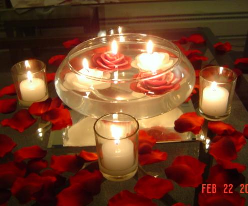 Floating Candles: Candles Floating Centerpieces: Adorning Outdoor ...